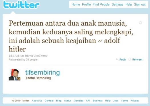 Tweet Tifatul